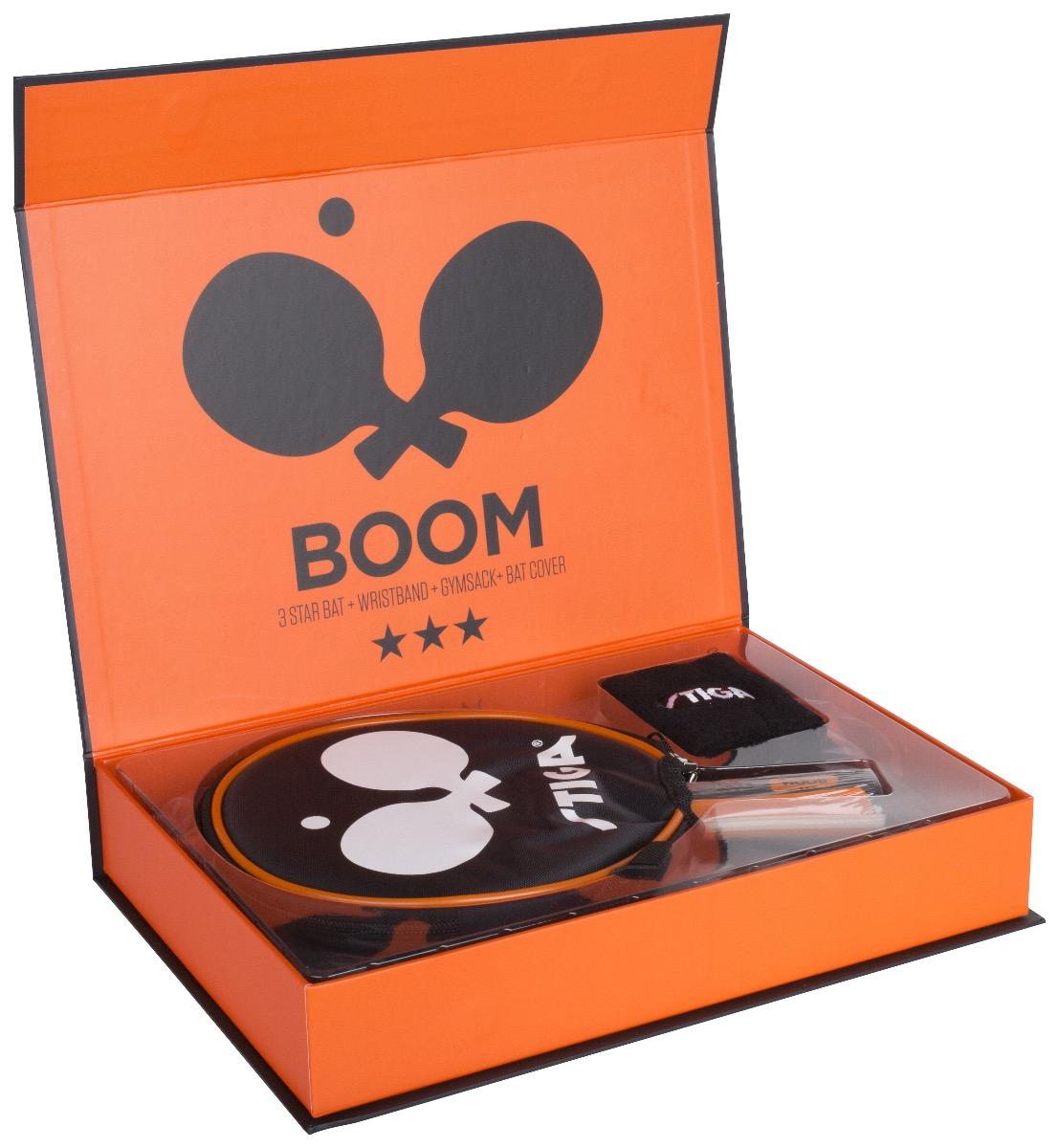 Stiga Boom 3-star Orange