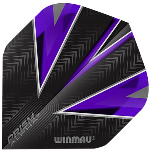 Winmau Prism Alpha Black & Purple