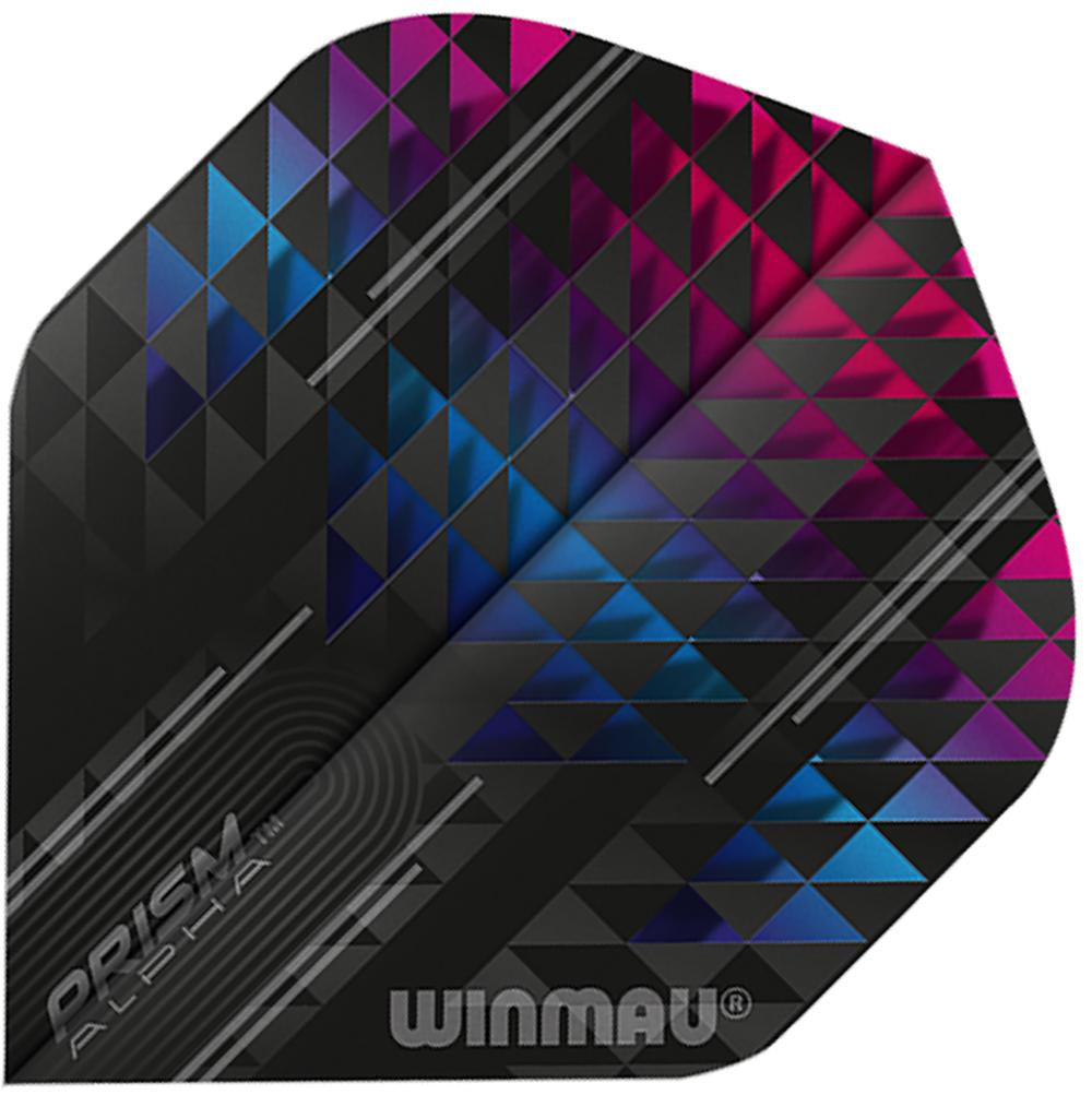 Winmau Prism Alpha Black & Pink