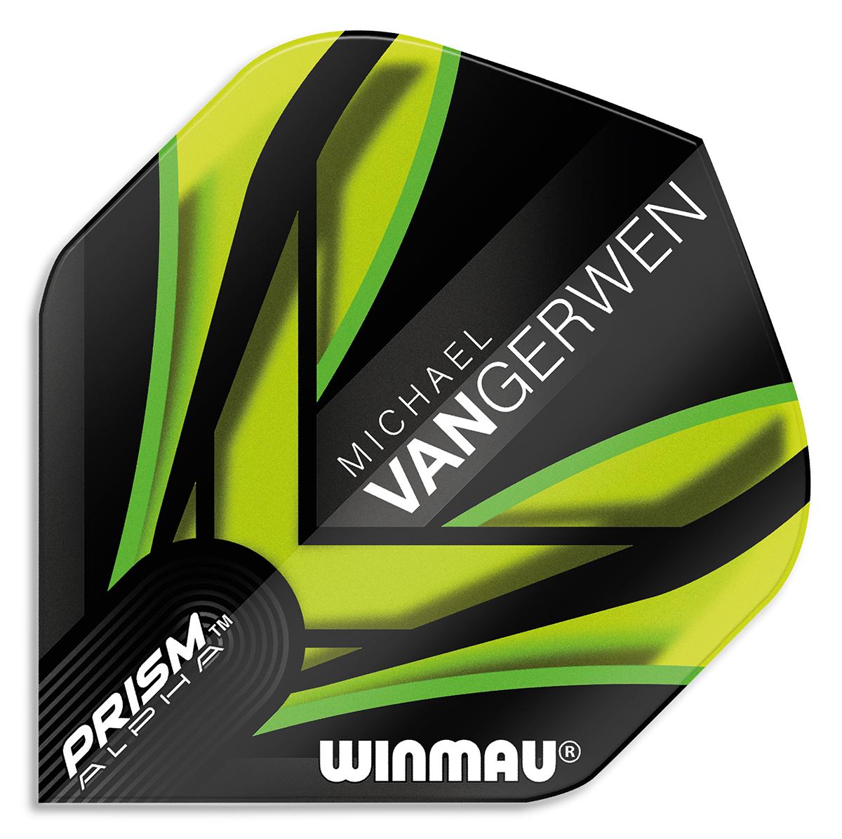Winmau Prism Alpha MvG Black/Green